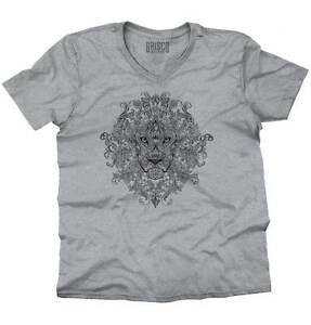 Jungle-Spirit-Animal-Lion-King-Mystic-Shirt-Illuminati-Eye-V-Neck-T-Shirt