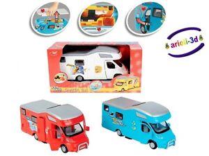 Camper Van Dickie Toys Kids Mate 8 Vr Camp Caravan Roulotte Blue White Red Ebay