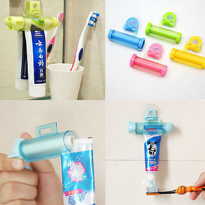 Lounger Rolling Squeezer Toothpaste Dispenser Tube Partner Sucker Hanging Holder