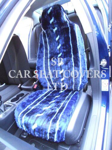 Vorne Sitzbezüge Blaue Streifen Kunstfell I Passend Für Vauxhall Corsa Auto