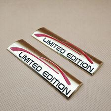 2pcs Metal Gold Limited Edition Logo Badge Fender Trunk Car Emblem Sticker Decal Fits 2012 Honda Civic