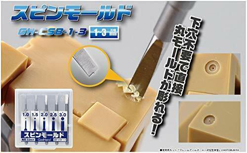 5pcs, diameter: 1mm, 1.5mm, 2mm, 2.5mm, 3mm God Hand Spin Blade Set