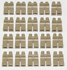 LEGO LOT OF 20 NEW DARK TAN MINIFIGURE LEGS PANTS BODY PARTS TOWN CITY BOY GIRL