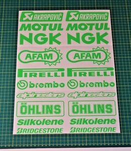 Belly Pan Fairing Sponsor Decals Stickers - FLUORESCENT GREEN