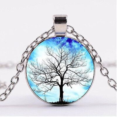 NEW Cabochon Glass necklace Silver woman pendants(horses)#126