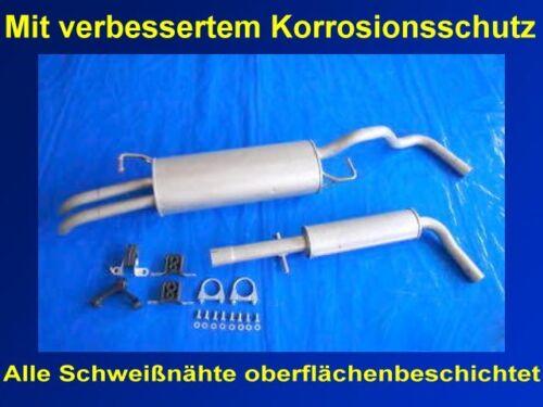 +Anbaukit 74KW /& 77KW Abgasanlage Auspuff Seat Toledo II 1.6 /& 1.6 16V Typ 1M2
