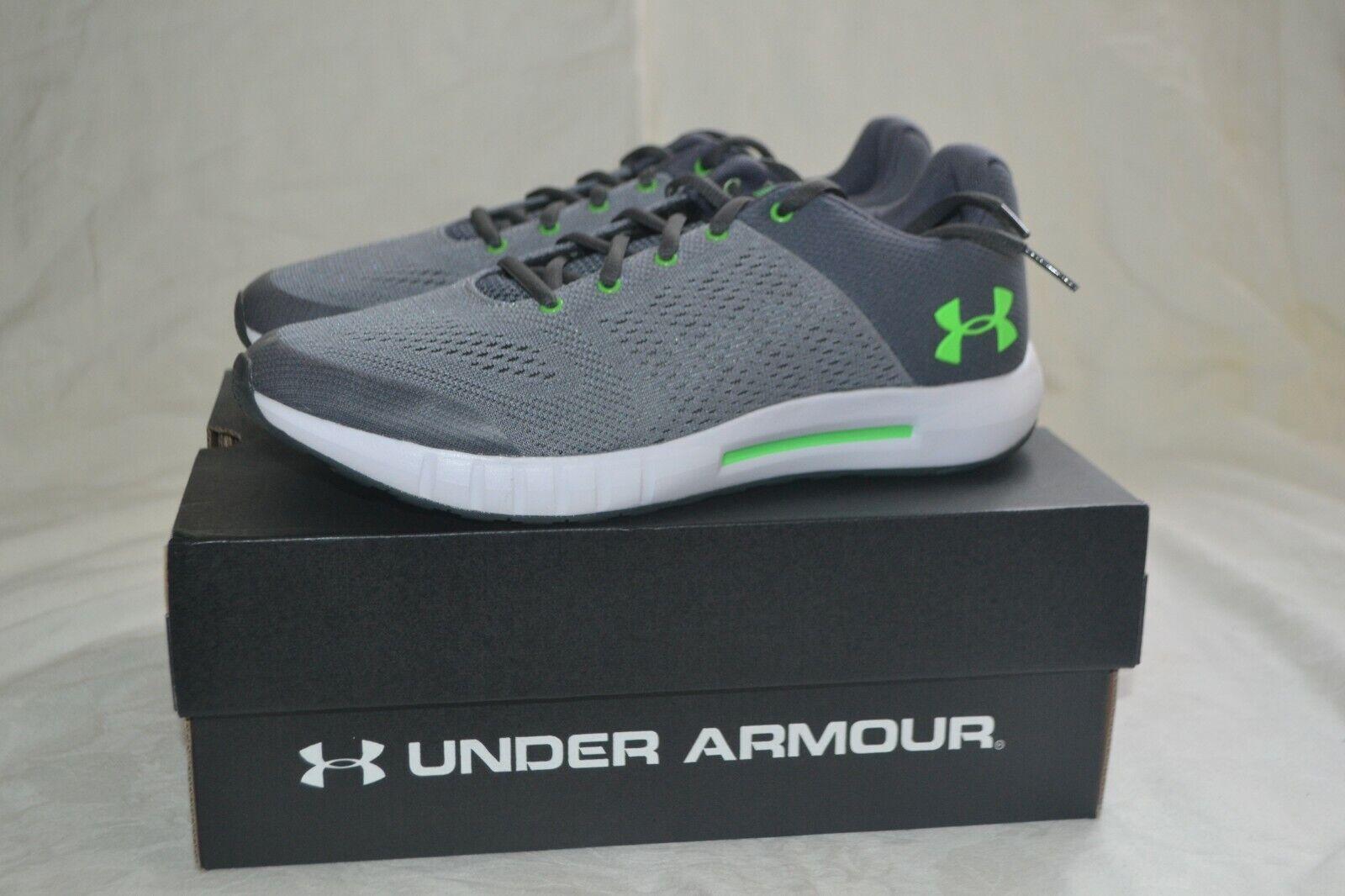 NIB Kids Under Armour Pursuit Grade School Sneaker 13k Gray//Green