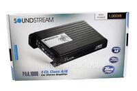 Soundstream Pa4.1000 1000 Watts 4-channel Class A/b Car Audio Amplifier