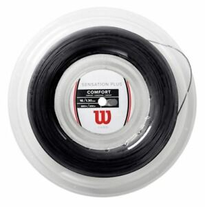 Capable (0,54 €/m) Wilson Sensation Plus 16 Black 1,34 Mm 200 M Tennis Cordes-afficher Le Titre D'origine