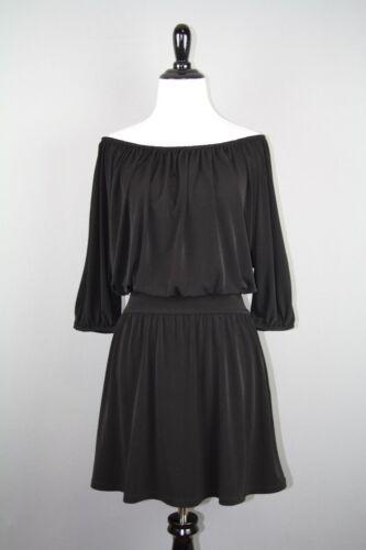 Express Women's Black Off The Shoulder Short Sleev