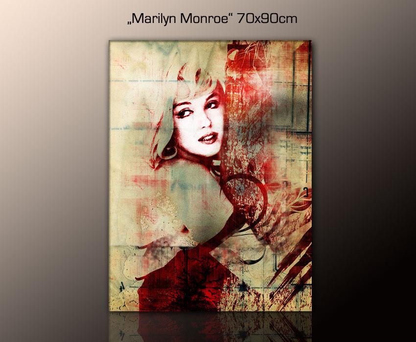Design images-la fresque Marilyn Monroe sur toile encadré Art - 90x70cm