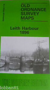 OLD ORDNANCE SURVEY DETAILED MAPS LEITH HARBOUR EDINBURGH 1896 Sheet 1.16 New