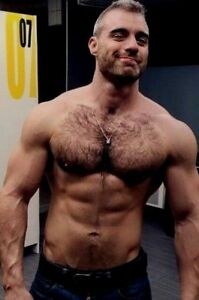 Mature hairy muscle men
