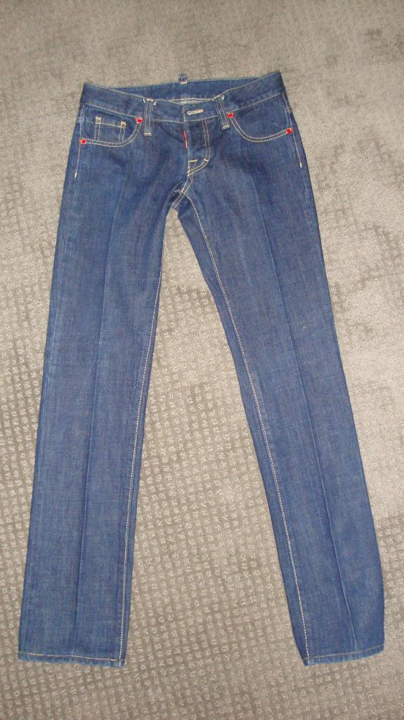 Dsquared2 Dark Wash Straight Low Rise Jean Size 42 mod. 72 LA035