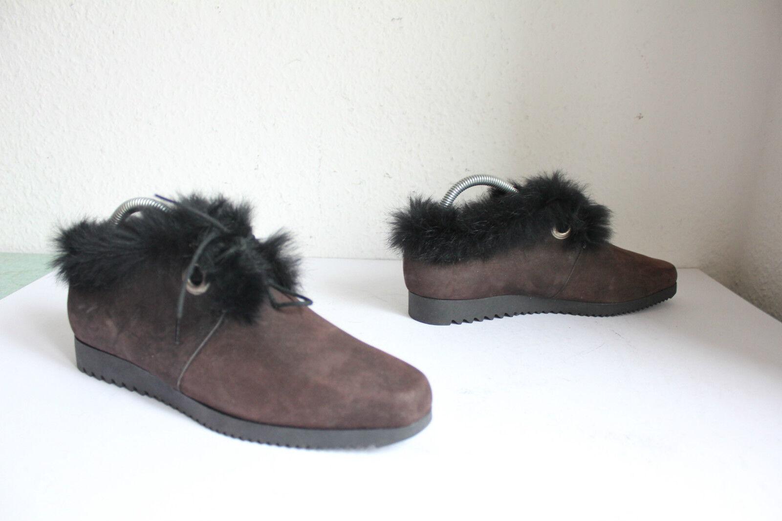 Fiesta elegante invierno schnürzapatos-semi botines nubukleder marrón eu eu eu 39, 5 bbaa57