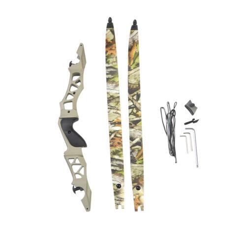 ILF 64/'/' Archery Recurve Bow 30-60lbs 21/'/' Bow Riser Target Hunting Shooting RH