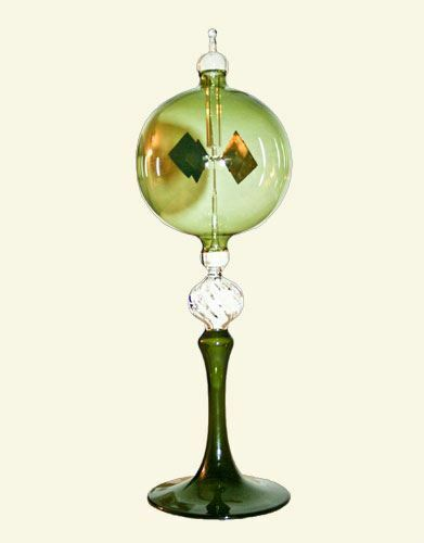 Solar Radiometer with Venetian Stem - Green Glass