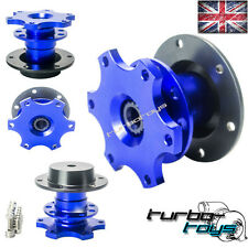 BLUE QUICK RELEASE SNAP OFF STEERING WHEEL HUB BOSS KIT fit MOMO SPARCO OMP