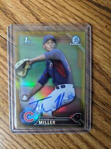 2016-Bowman-Draft-Chrome-Tyson-Miller-Auto-signed-Gold-50-Chicago-Cubs