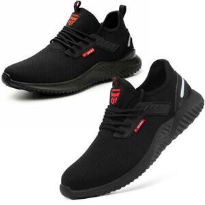 Black Safety Shoes for Men Women Steel