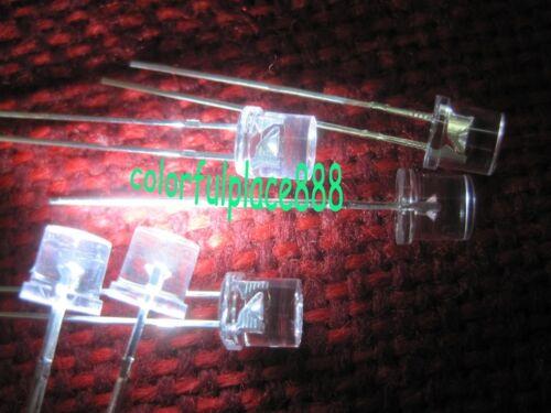 5mm White 13000mcd Flat Top LED Wide Angle Lamp Super Bright leds New 1000pcs