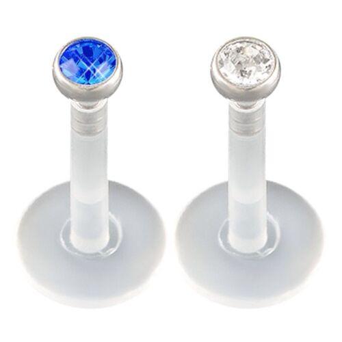 16g 5//16 labret lip rings tragus stud bars monroe ear piercing jewelry 10 COLORS