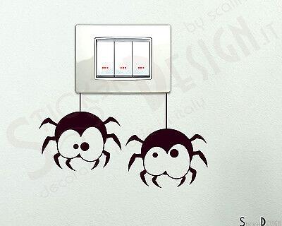 Adesivi Murali Wall Stickers Interruttori Decoro Adesivo Sticker Simpatici Ragni