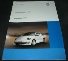 SSP 496 VW Beetle Karosserie Antrieb, Fahrwerk, Heizung Klima Elektrik Navi 2012