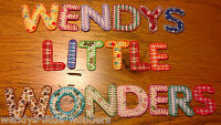 Material Fabric Iron On Alphabet Letters Embroidered Blanket Stitch Any Names