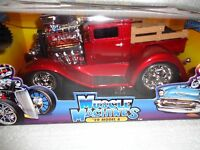 66 GTO IN GLOSS BLACK WITH FLAMES. 2002 MUSCLE MACHINE MIB. 1 18 SCALE Toys