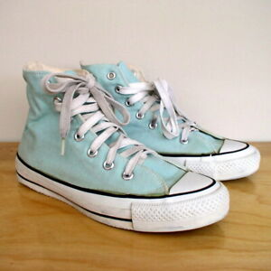 Details about Vintage Converse Chuck Taylor All Star Hi Top Sneaker Mint Green Made in the USA