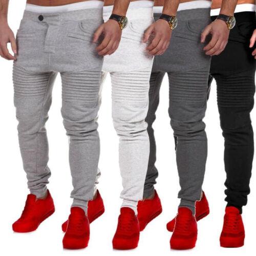 Men Jogger Sportwear Baggy Casual Harem Pants Slacks Dance Trousers Sweatpants A