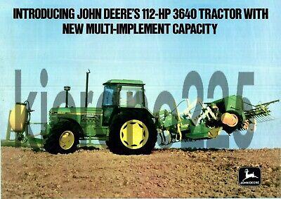 John Deere Aspiring A3 John Deere 3640 Tractor Poster Sales Brochure Advertisement Britains Farm