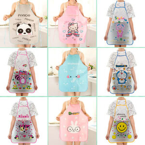 12-Pattern-Women-Cute-Cartoon-Waterproof-Apron-Kitchen-Restaurant-Cooking-Bib