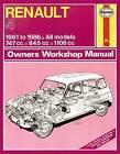 Renault 4 Owners Workshop Manual: 61-86 by John Harold Haynes (Paperback, 2012)