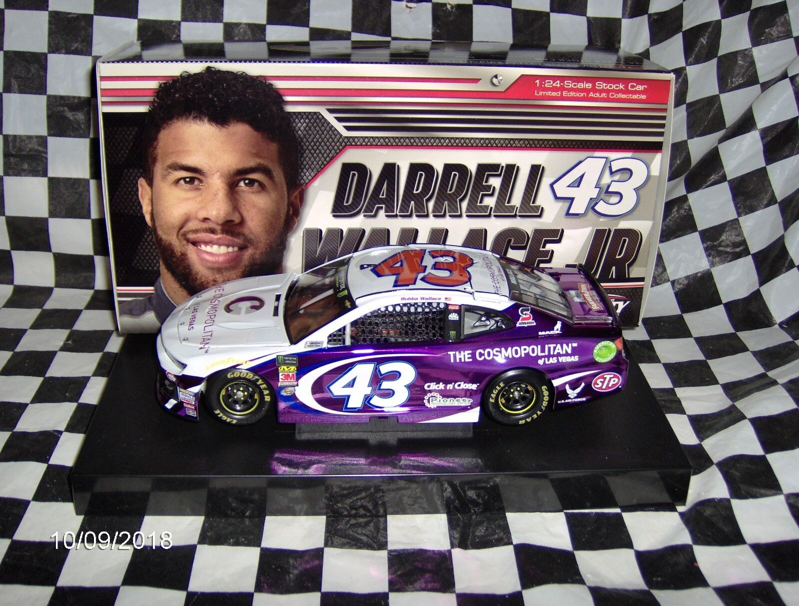2018 Darrell (Bubba) Wallace JR   43 Le cosmopolite de legas Couleur Chrome