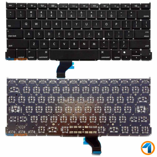 """US Layout Keyboard Replacement For Apple Macbook Pro 13/"""" Retina A1502 2013 14 15"""