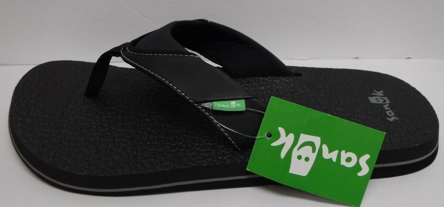 Sanuk Size 13 Black Sandals New Mens shoes