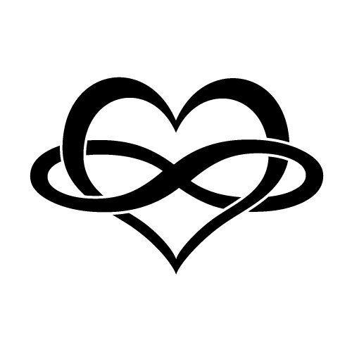 Custom Vinyl Car Decal Infinity Love Heart
