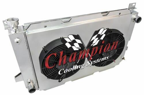 "1985-1997 F-Series Trucks Aluminum Radiator Shroud 12/"" Fans /& Relay Kit,CC1451"