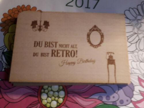 Holzpostkarte-Du bist nicht alt .. neu