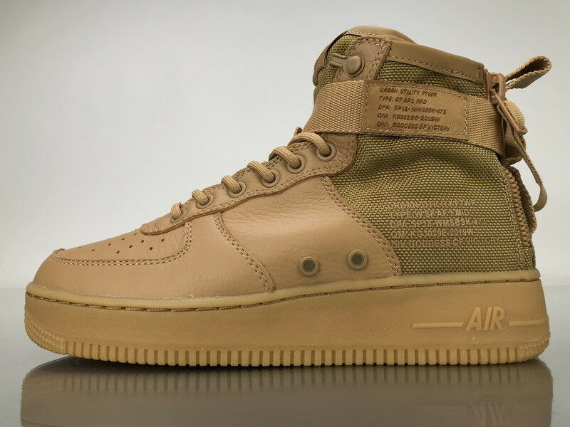 nike W SF AF1 Special Force Air Force 1 Mid GOLD FLAX US WOMENS SIZES AA3966-700