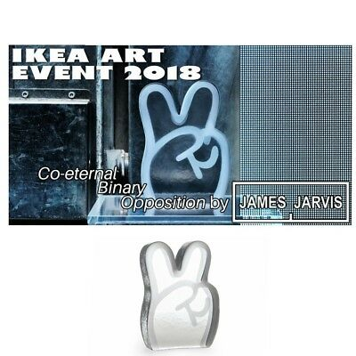 IKEA ART EVENT 2018 LIMITED COLLECTION PEACE Art GLASS Figurine by James Jarvis