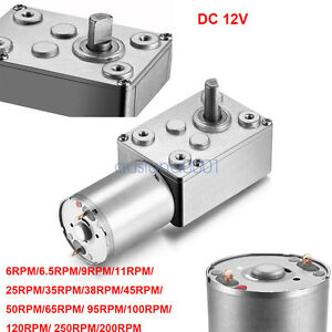 Details about 12V DC Motor High Torque Reduction Worm Reversible Turbo  Geared Strong Powerful