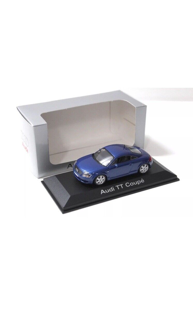 Seltene audi tt 8n 1.8t 3.2 v6 quattro coupé Blau 1 43 minichamps (dealer - modell)