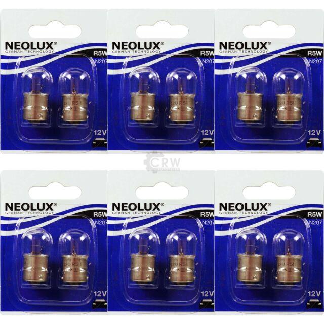 6x NEOLUX Set 2x R5W 5W BA15s 12V Blister Birne