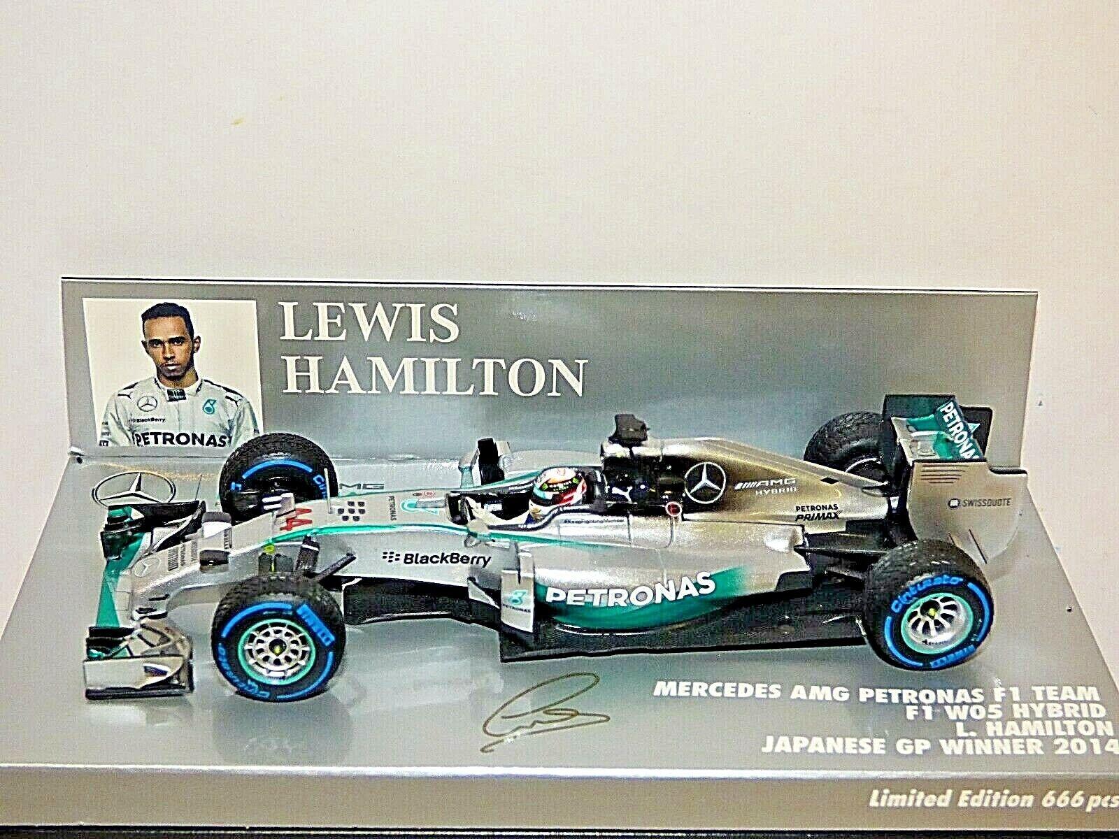 Minichamps Mercedes AMG Petronas F1 W05 Hybrid L. Hamilton Japanese GP Winner