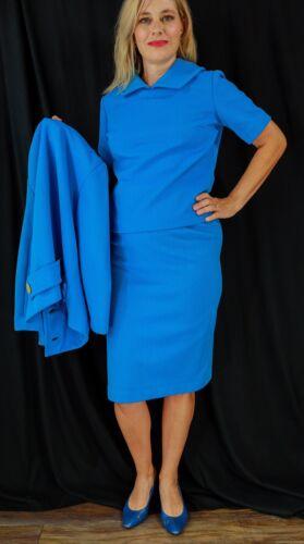 Nardis By Dallas Blue Womens Vintage Skirt Suit 60