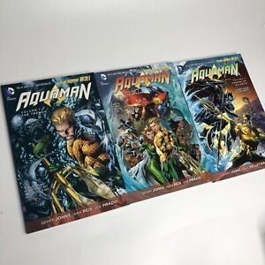 Aquaman New 52 TPB Vol 1-3 DC COMICS Graphic Novel Lot TPB The Trench Atlantis