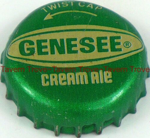 1970s NEW YORK Rochester GENESEE CREAM ALE twist-off plastic-lined Crown T-Trove